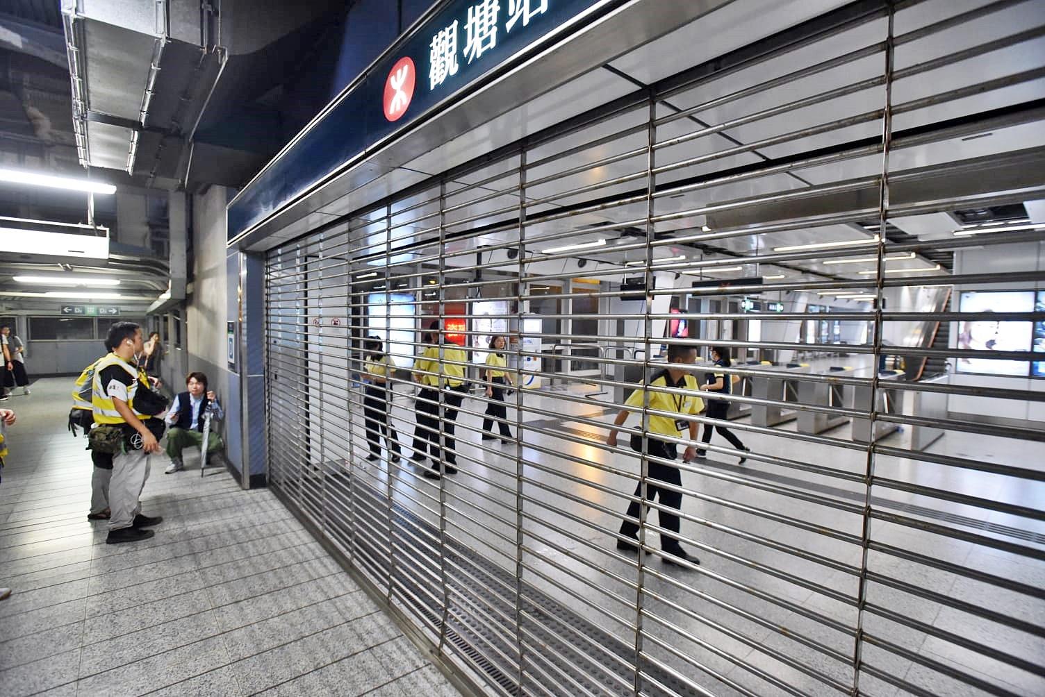 港铁指多个车站受破坏 个別车站今早未必可重开
