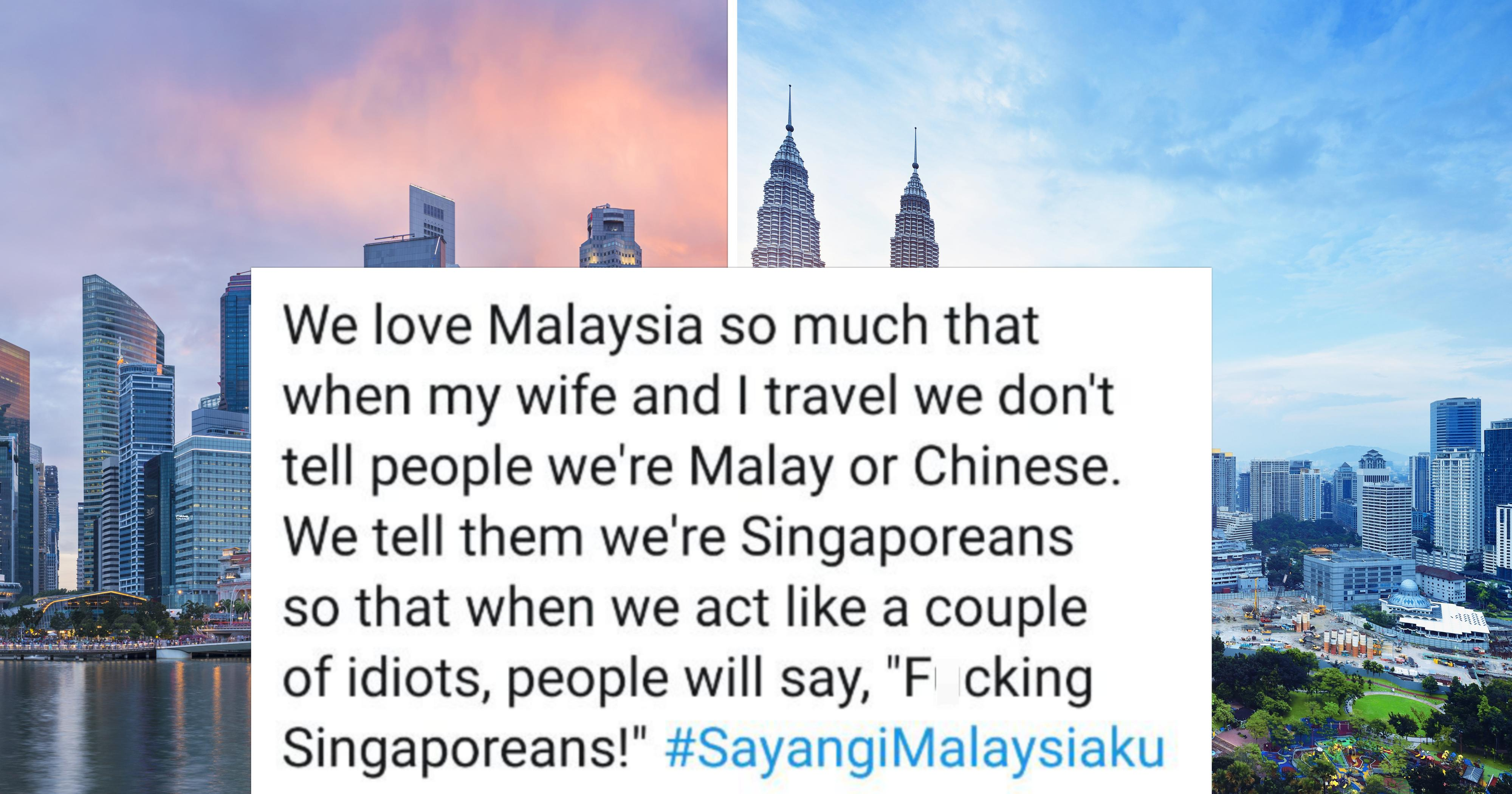 M'sian claims to 'pretend' to be S'porean when overseas to freely act like idiots, real S'poreans respond