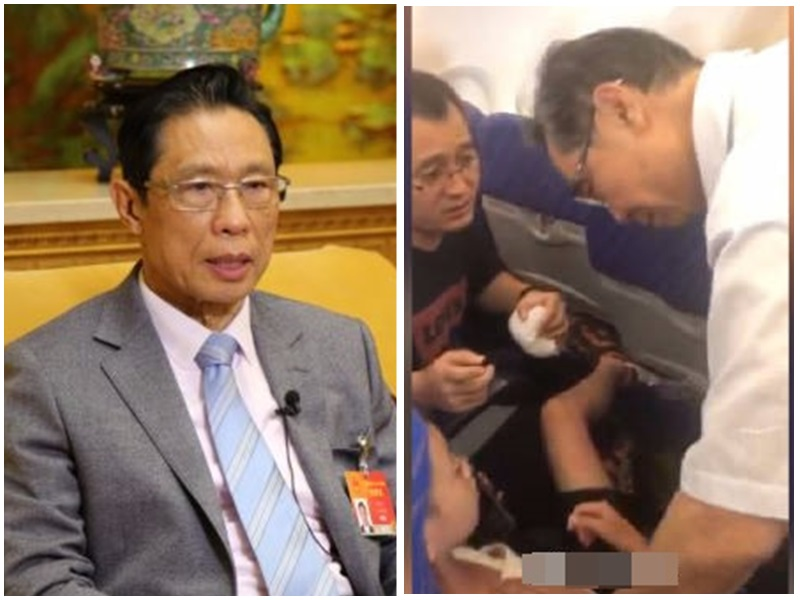 9岁童突发性过敏 呼吸病专家锺南山同机问诊检查