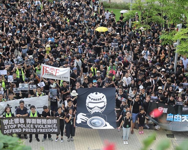 【逃犯条例】摄记协发声明冀警方正视前缐警员漤权及失控问题
