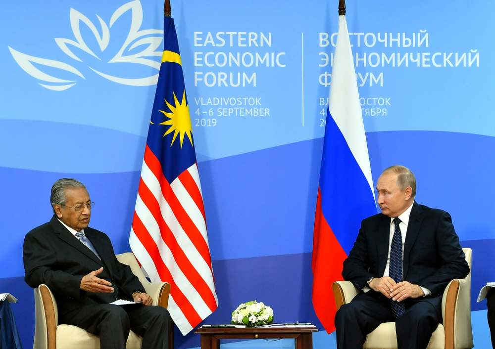 Dr M, Putin discuss efforts to further strengthen bilateral ties