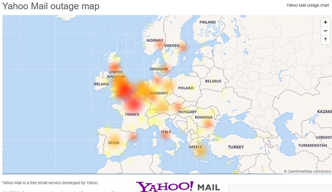 雅虎全球多地大规模一度故障 用户无法浏览服务或登入电邮