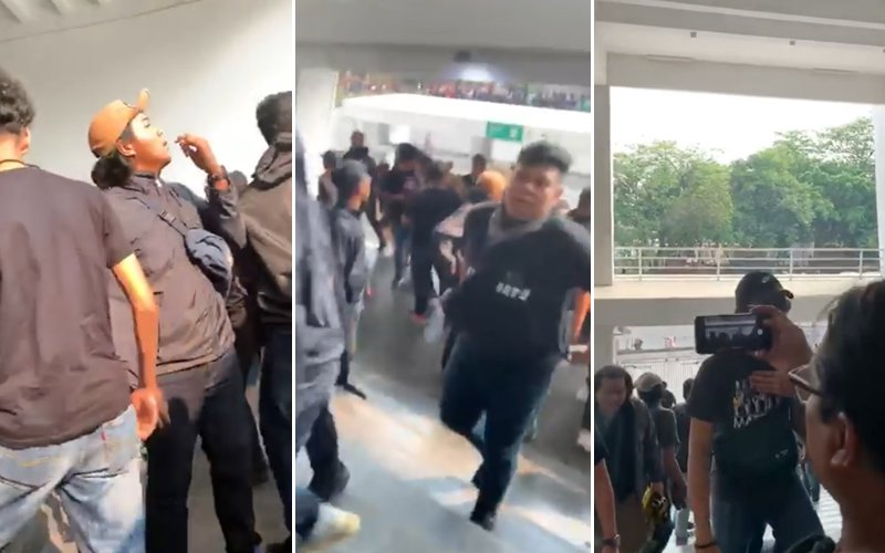 Rocks thrown as Malaysian football fans approach stadium in Indonesia