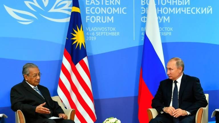 Mahathir, Putin discuss to further strengthening bilateral ties