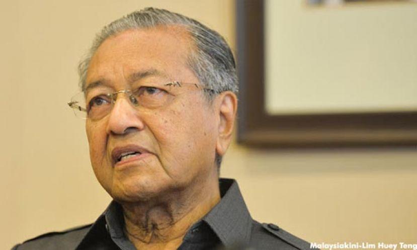 马哈迪恨铁不成钢 痛心马来人不争气