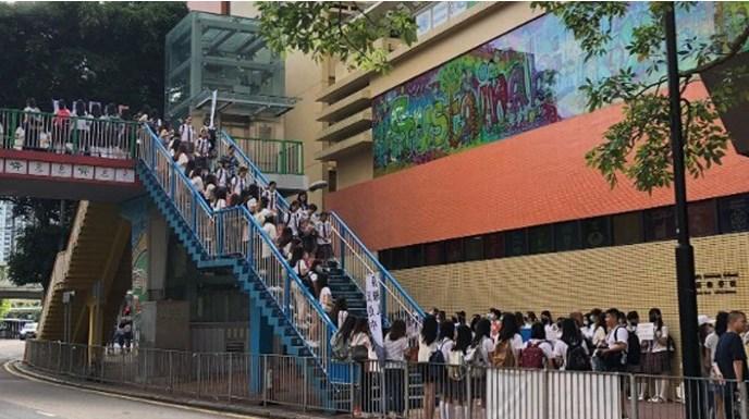 香港多间院校学生再筑人链 促回应五大诉求