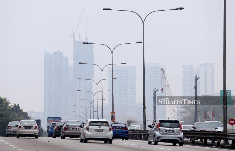 Increased hotspots and more hazy areas