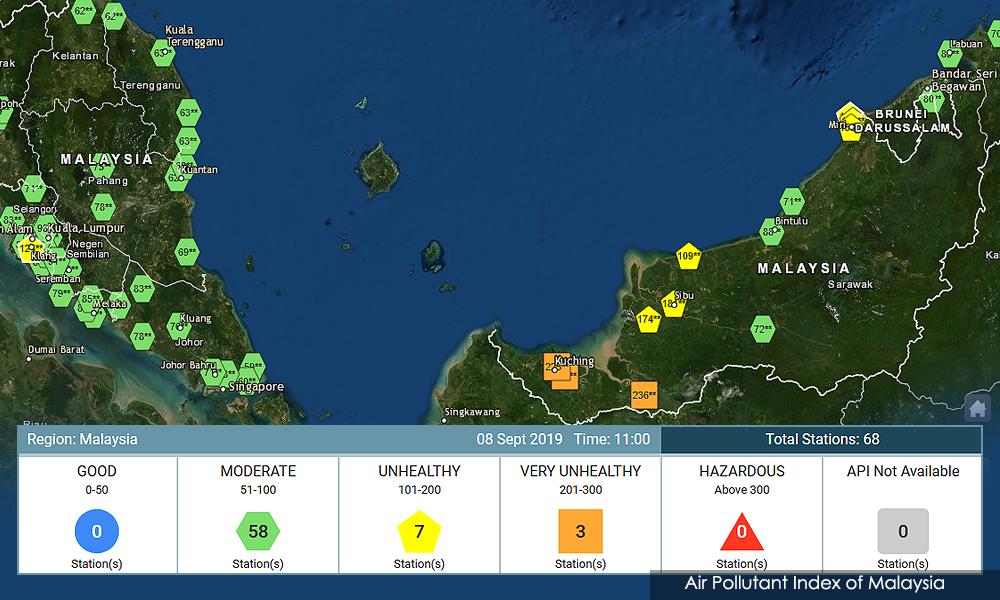 Haze: Very unhealthy API levels in Kuching
