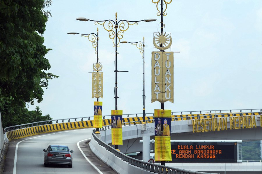 KL decked out in royal yellow for Agong's birthday