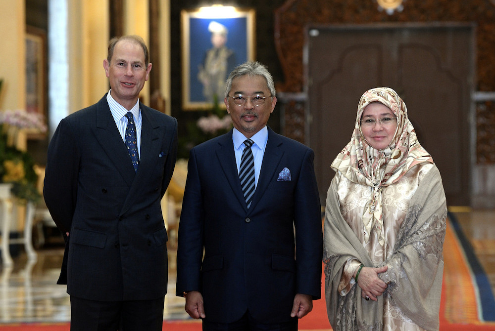Agong grants audience to Britain's Prince Edward