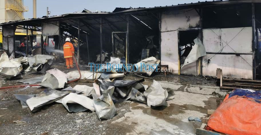 Workers' quarters burnt to the ground in early morning fire