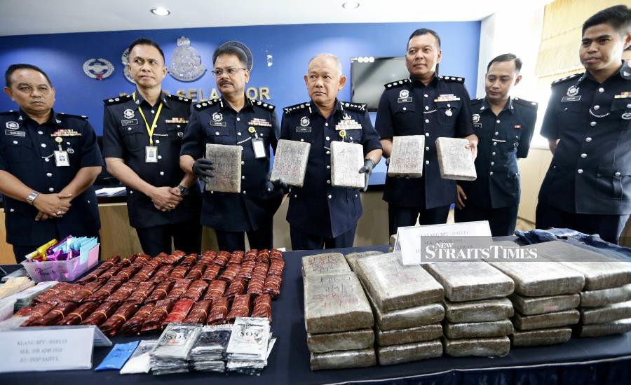 Selangor police bust two drug rings on Wednesday