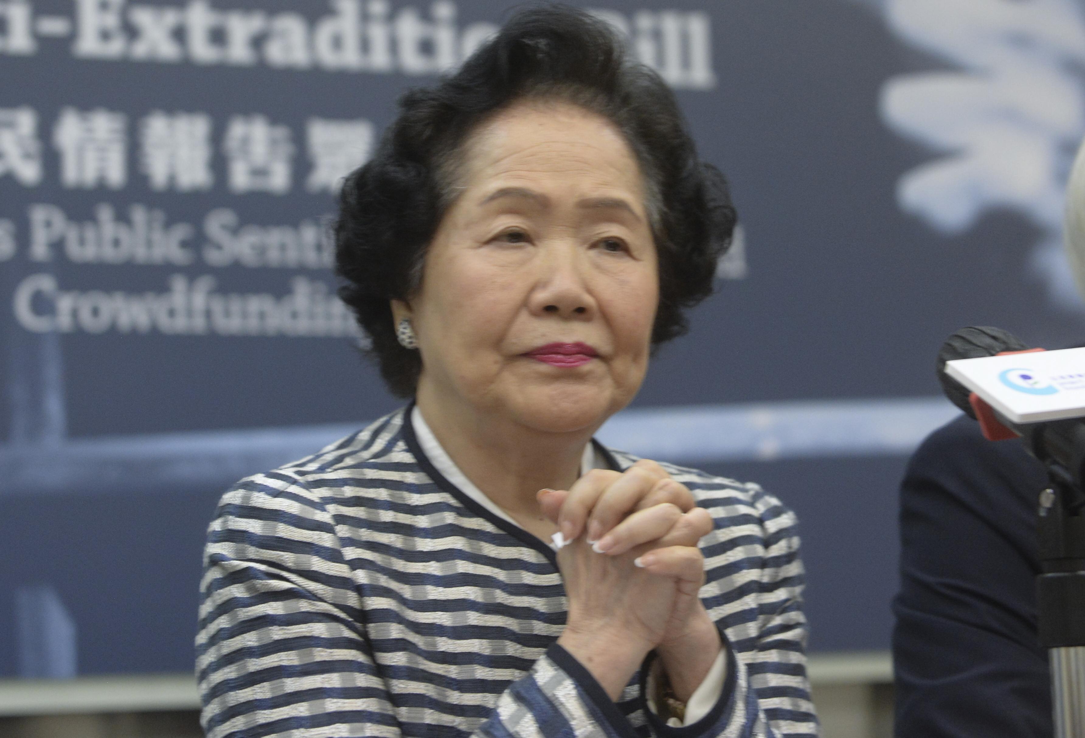 【修例风波】形容香港如无船长的船 陈方安生:林郑月娥应让位