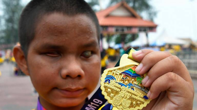 Special needs participants complete international run