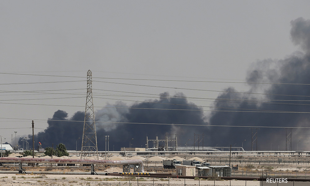 Attacks on Saudi oil facilities knock out half the kingdom's supply