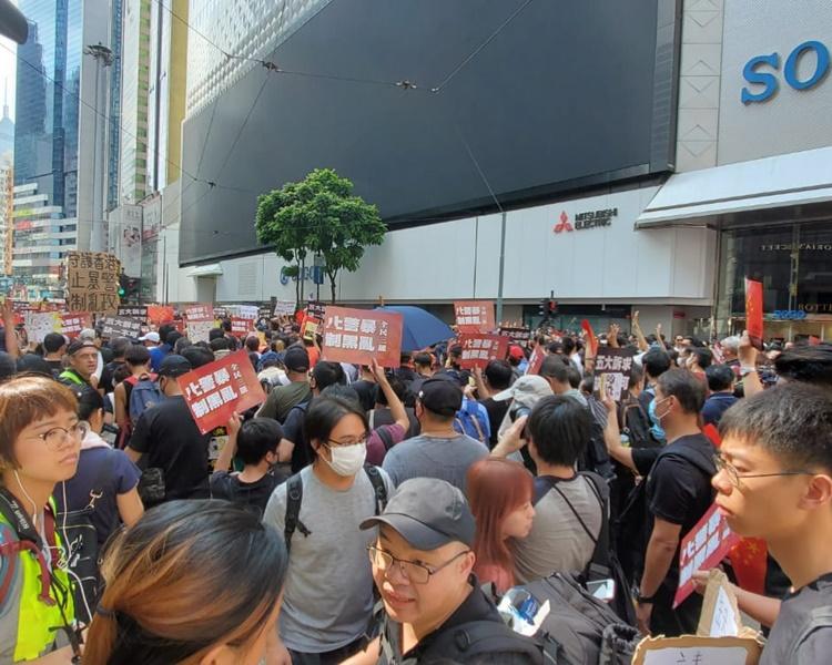【修例风波】警指铜锣湾示威者参与未经批准集结