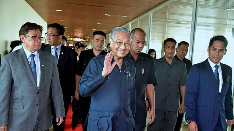 Mahathir arrives in Kota Kinabalu for one-day working visit