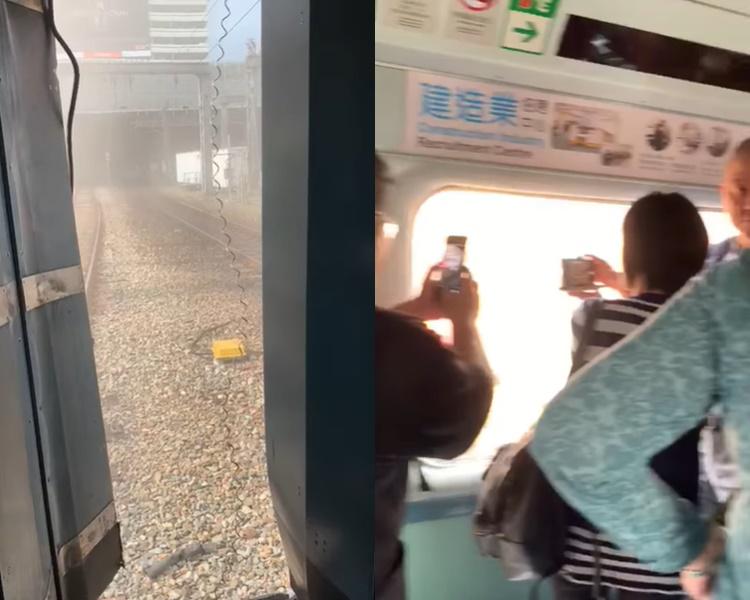 【港铁出轨】出轨后有乘客受惊嚎哭叫救命 喊「好彩无反转咋」(片段)