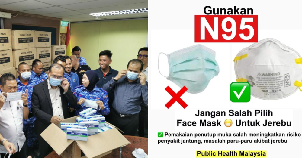M'sian govt distributing 80,000 surgical masks instead of N95 masks to residents affected by haze