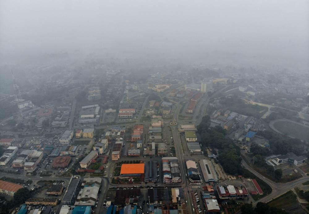 Haze in Sri Aman improving, plunge in API