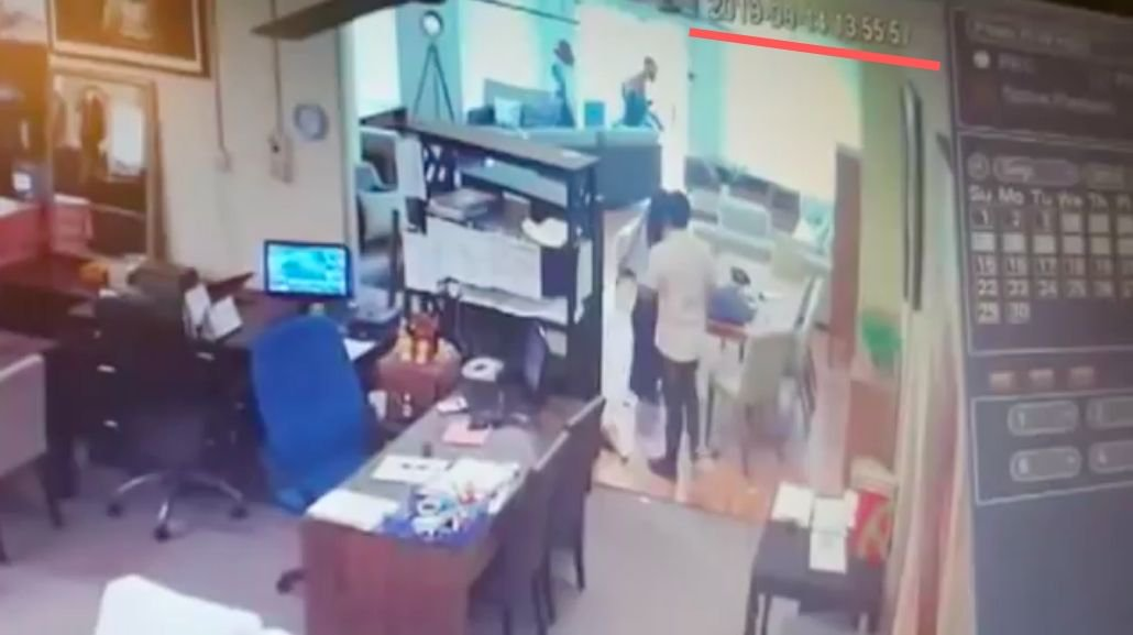 CCTV Shows Shopkeepers Using Sofa And TV Cabinet To Fight Off Parang-Wielding Robbers