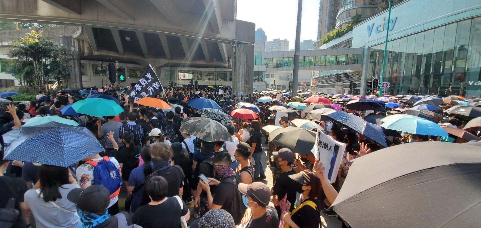 【修例风波】警方宣布将于屯门进行驱散行动