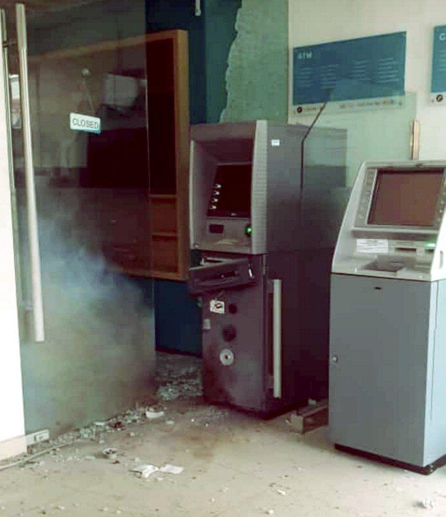 Burglar flees after failing to blast open ATM