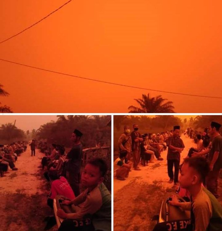 Indonesia's Skies Turned Red Over The Weekend. Here's Why The Phenomenon Occurred