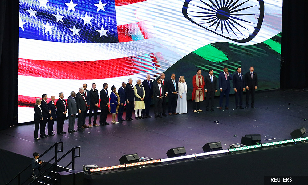 'Howdy, Modi!' - thousands, plus Trump, rally in Texas for India's leader