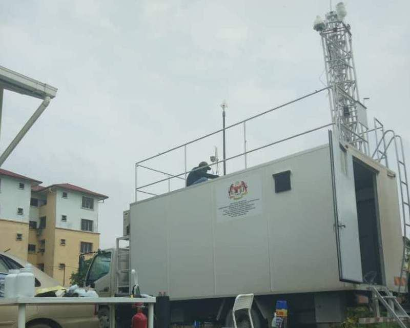 Mobile air quality monitoring station shifted to Serian from Miri