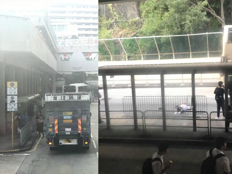 葵盛男子堕楼倒卧马路 吓倒巴士站乘客