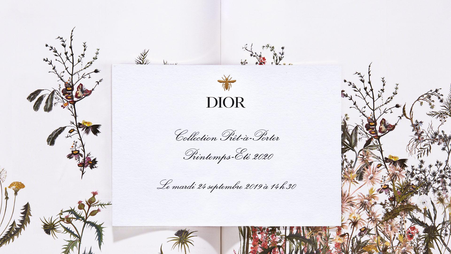 Watch: Dior's Spring/Summer 2020 Runway Show live from Paris Fashion Week