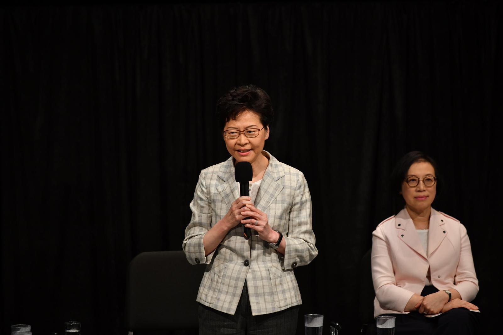 【修例风波】林郑:现时困难比五大诉求更广泛 直接对话令港变更好