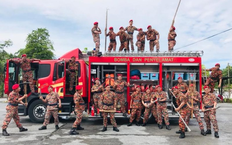 At home in a man's world, Sarawak woman fire station chief forges ahead