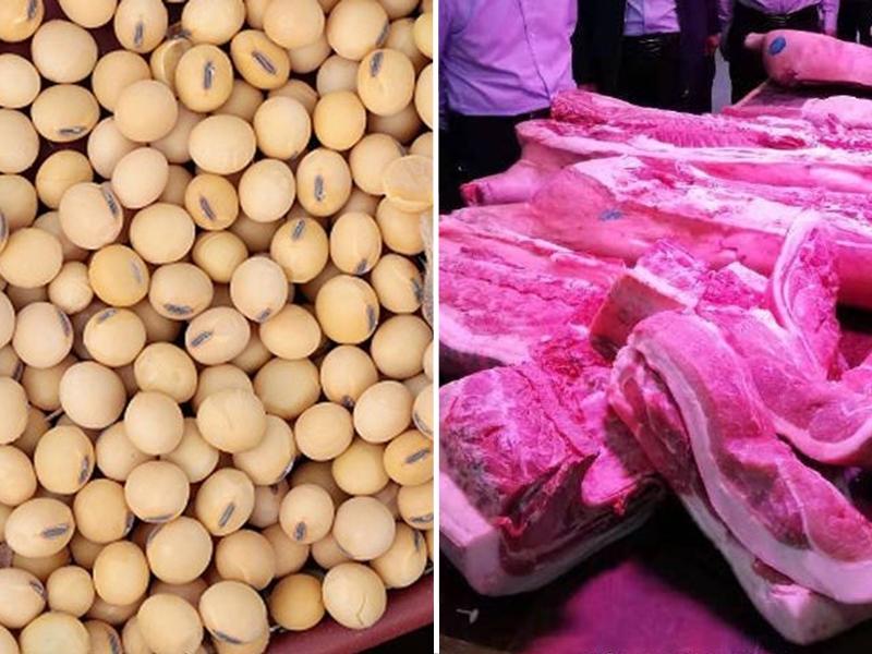 国家商务部:中企与美国成交大豆与猪肉