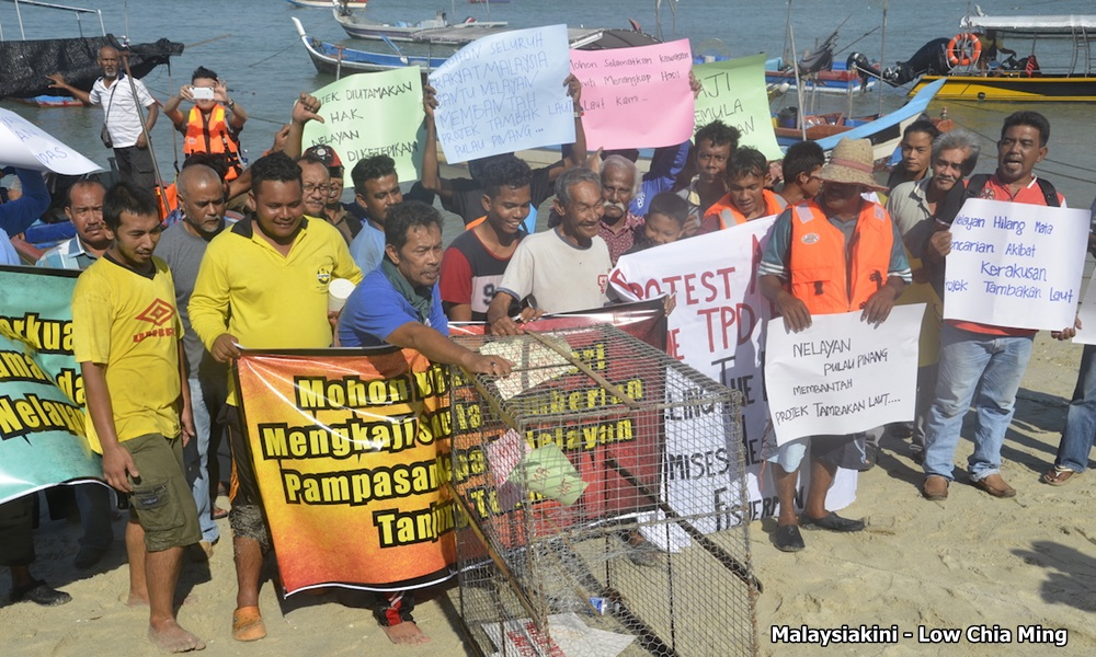 Think of Penang's development plans too, fisherfolks told