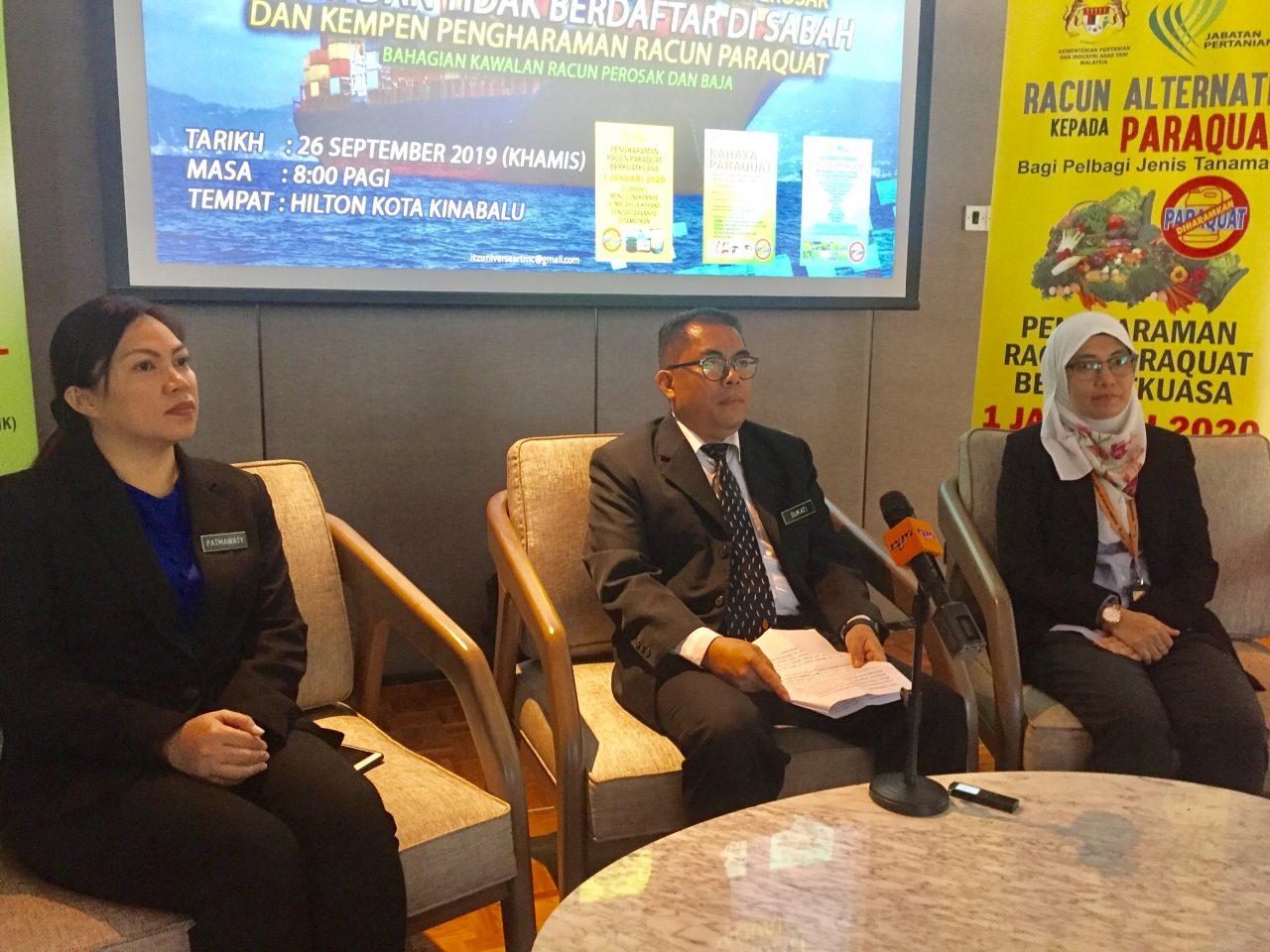 Most illegal pesticides smuggled via Sandakan, Tawau