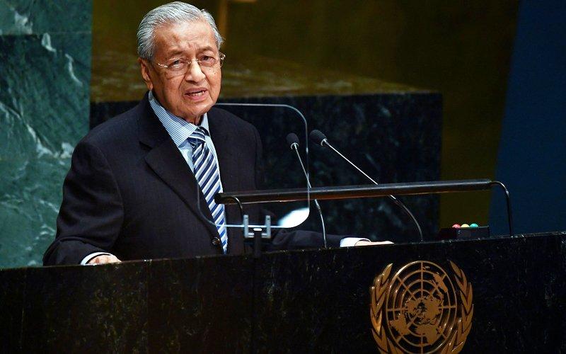 Mahathir defends palm oil in UN address
