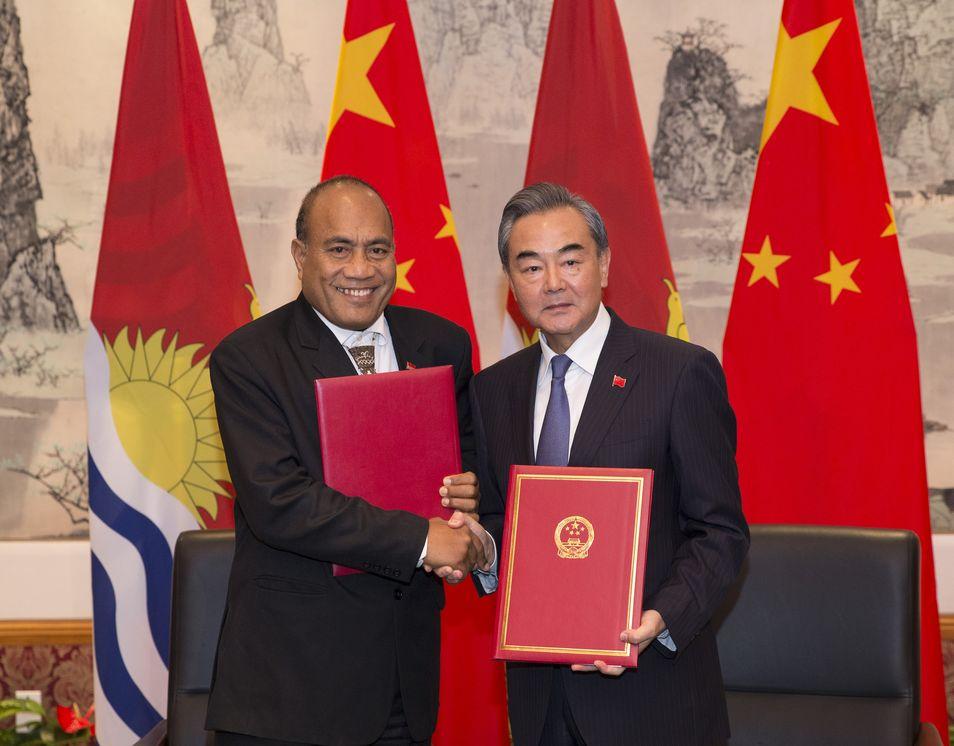 基里巴斯与中国恢復外交关系 承诺断绝与台官方来往