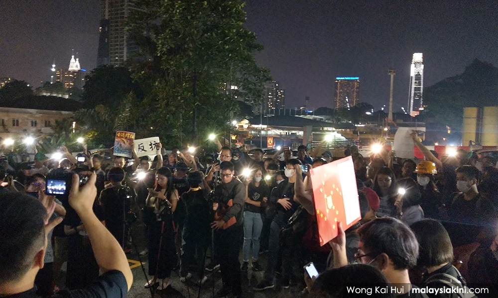 Police probe pro-Hong Kong rally in KL