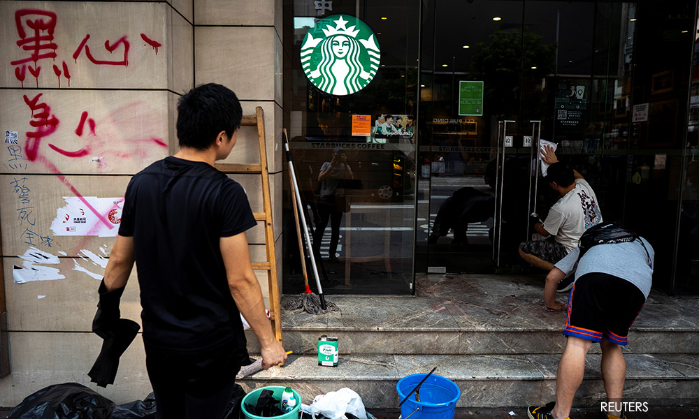 Hong Kong protesters target mainland and pro-Beijing businesses