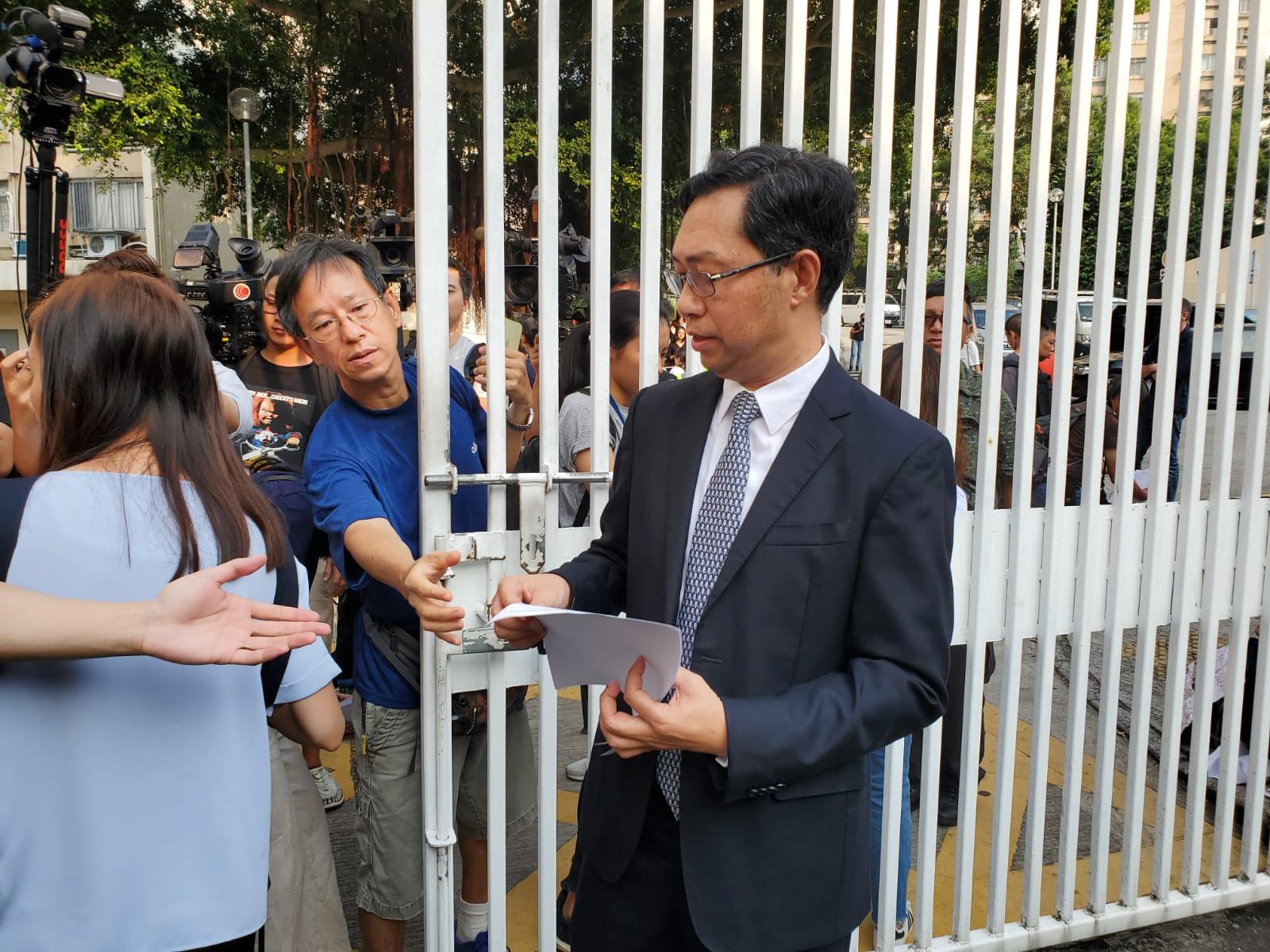 【修例风波】中五生中枪受伤 荃湾何传耀中学:全力支援受伤学生及家人