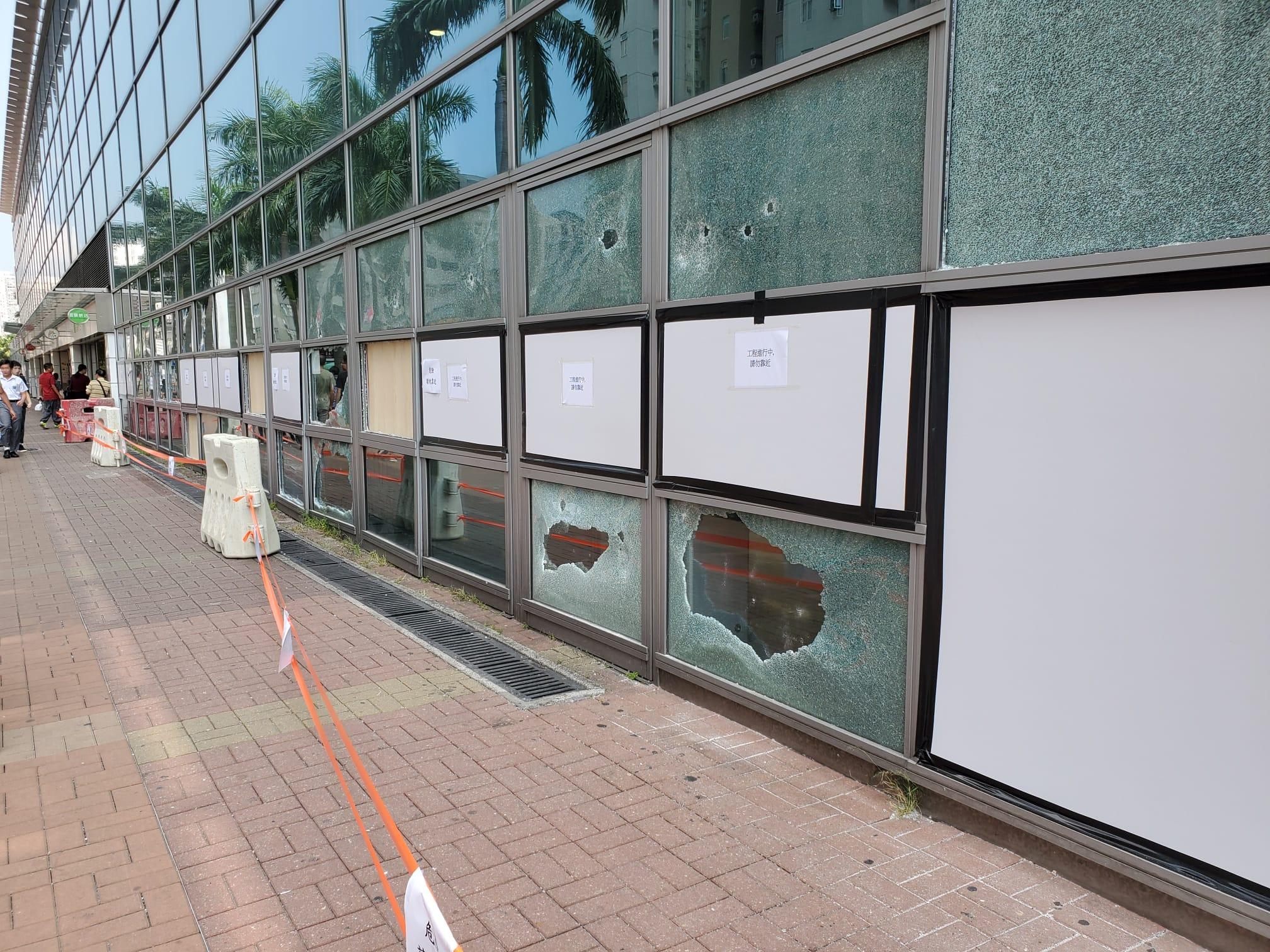 【修例风波】大围站有设施未修復 玻璃爆裂闸机售票机受损停用