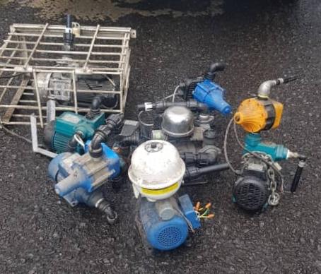 10 water pumps seized in Tawau