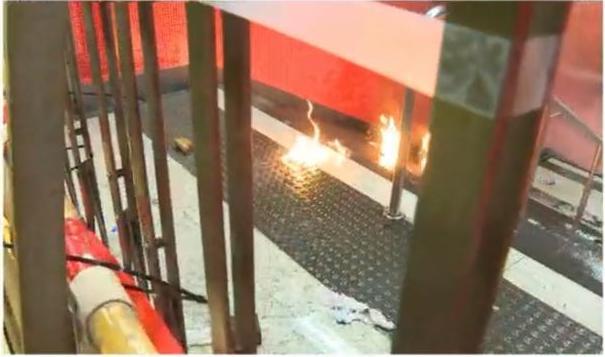 【修例风波】示威者长沙湾站外聚集 往站内投掷汽油弹
