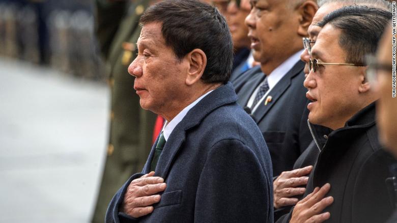 Philippines President Duterte reveals he has a chronic neuromuscular disease