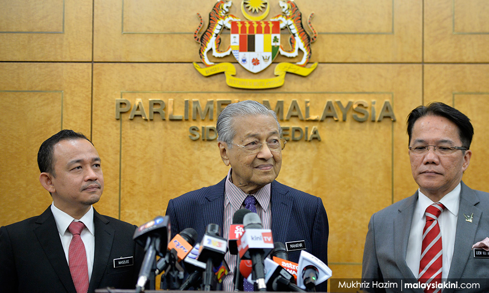 无意联巫伊组新政府,马哈迪拒末哈山邀请