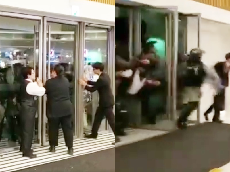 【修例风波】称接报处理马鞍山商场店舖被破坏事件 警:有记者站在路中心被撞倒