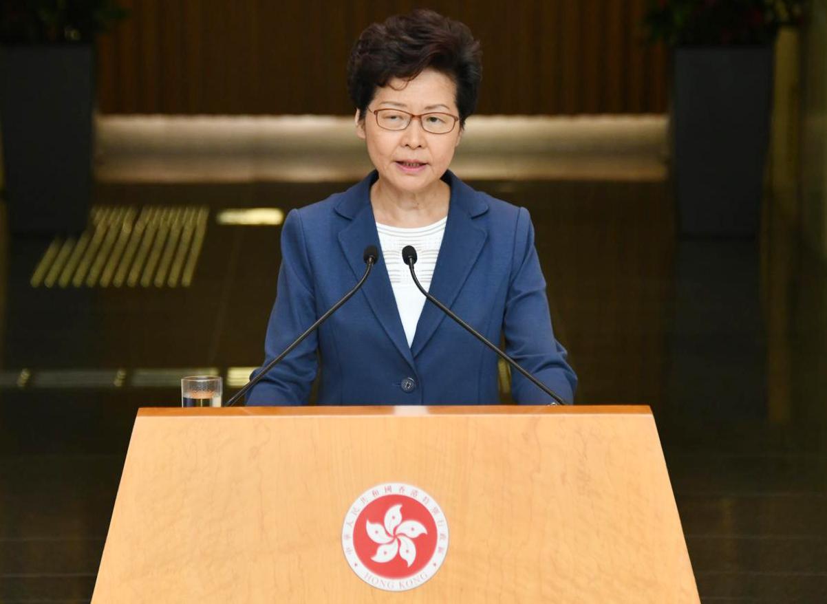 【修例风波】林郑:上周赴京沒有与任何中央官员见面