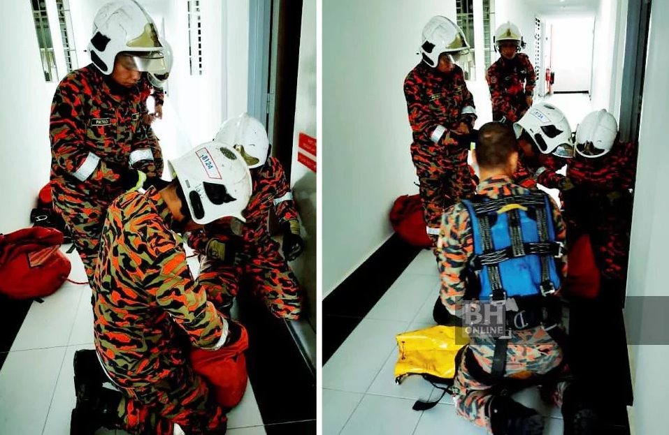 Johor Bomba officer rescues 10yo girl from 19th floor suicide attempt